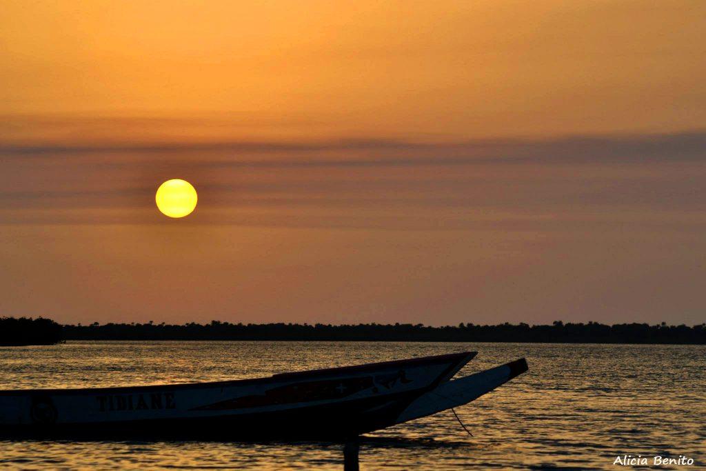 Atardecer en la Casamance (Senegal)