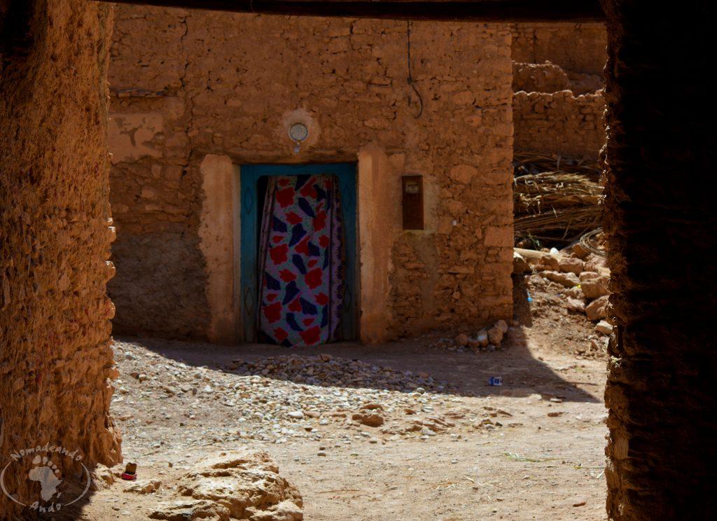 las cortinas de kasbah de Tisnt